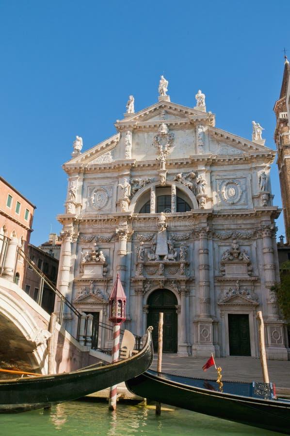 Kirche San-Moise gelegen in Venedig, Italien lizenzfreies stockfoto
