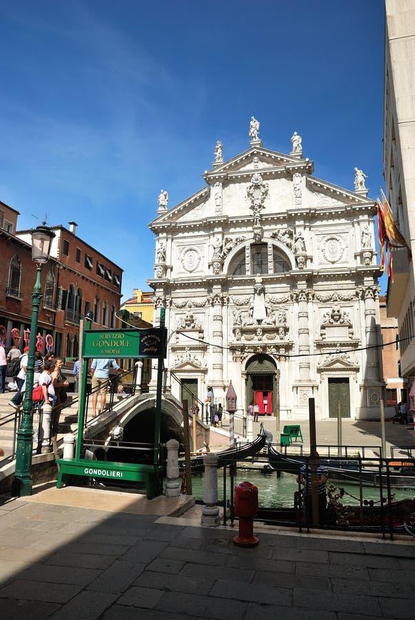 Kirche San Moise in Venedig lizenzfreie stockfotografie