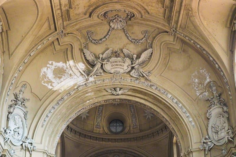 Kirche Sans Filippo Neri in Turin stockbild