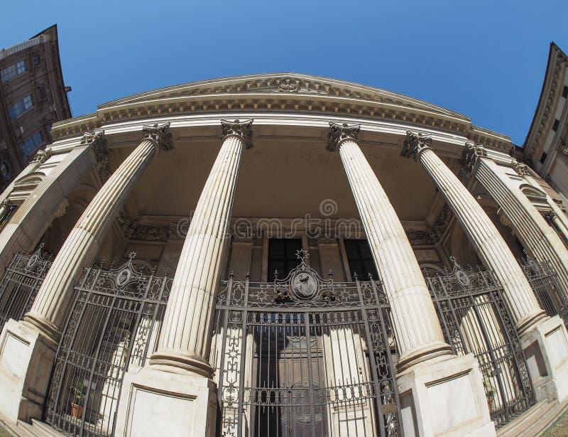 Kirche Sans Filippo Neri in Turin stockfotos