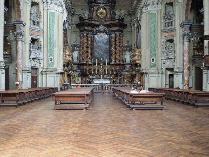 Kirche Sans Filippo Neri in Turin stockbilder