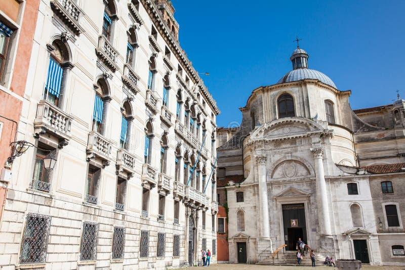 Kirche Sans Geremia in Venedig errichtete auf dem 11. Jahrhundert stockfotos