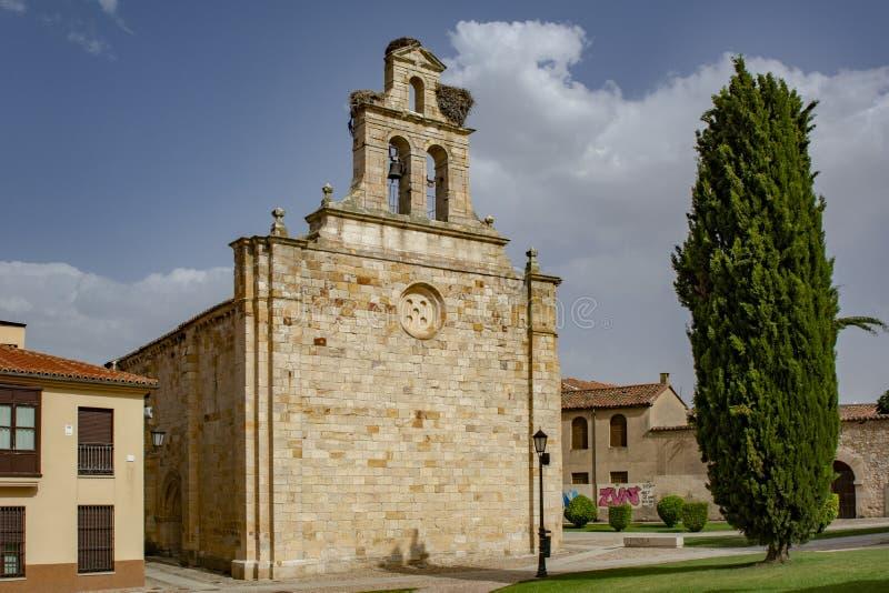 Kirche Sans Isidoro in Zamora, Spanien stockfotografie