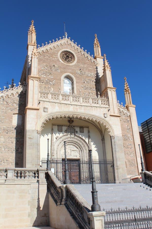 Kirche Sans Jeronimo el Real in Madrid, Spanien Anblick, Museum stockfoto