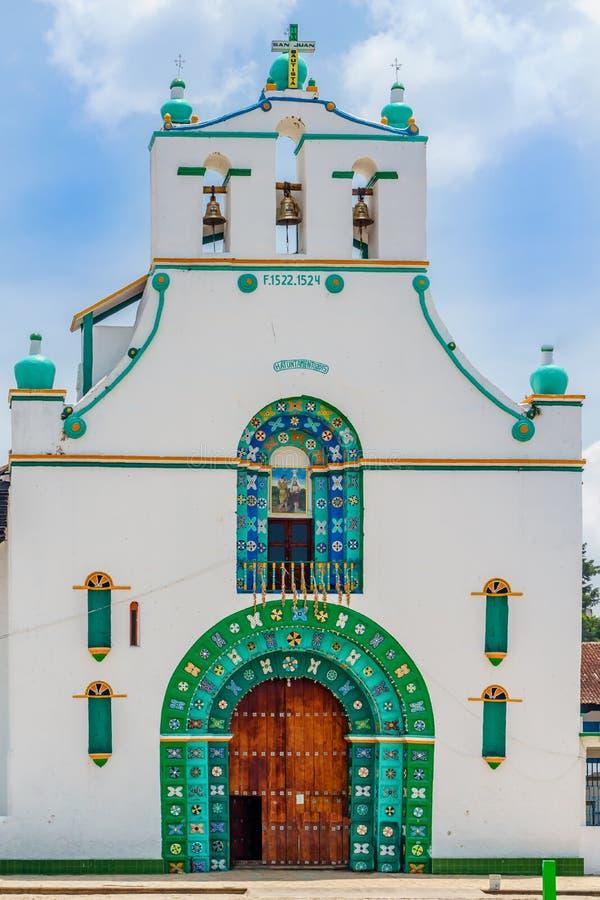 Kirche Sans Juan Chamula durch San Cristobal de Las Casas in Mexiko stockfoto