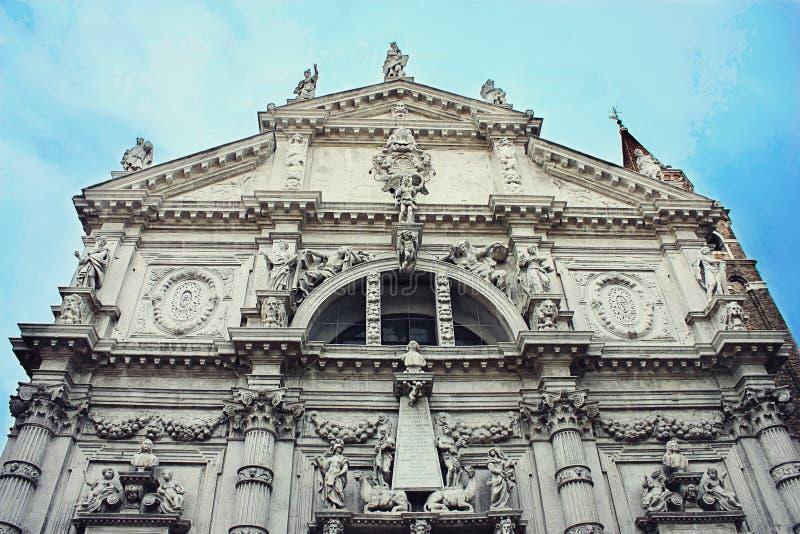 Kirche Sans Moise in Venedig stockfoto