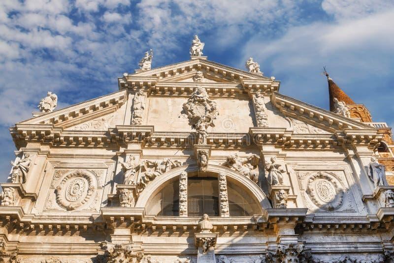 Kirche Sans Moise, Venedig stockbild