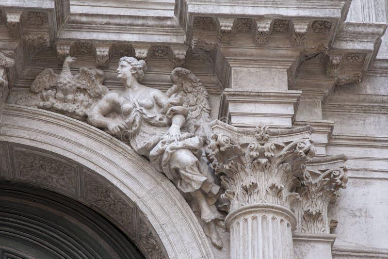 Kirche Sans Moise; Venedig lizenzfreie stockfotos