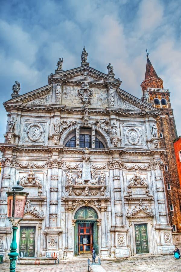 Kirche Sans Moise in Venedig stockfotografie