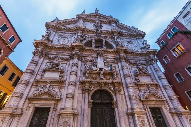 Kirche Sans Moise in Venedig lizenzfreie stockbilder