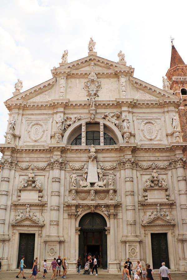Kirche Sans Moise in Venedig, Italien lizenzfreie stockfotos