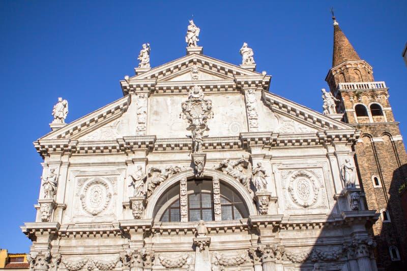 Kirche Sans Moise, in Venedig, Italien stockfotos