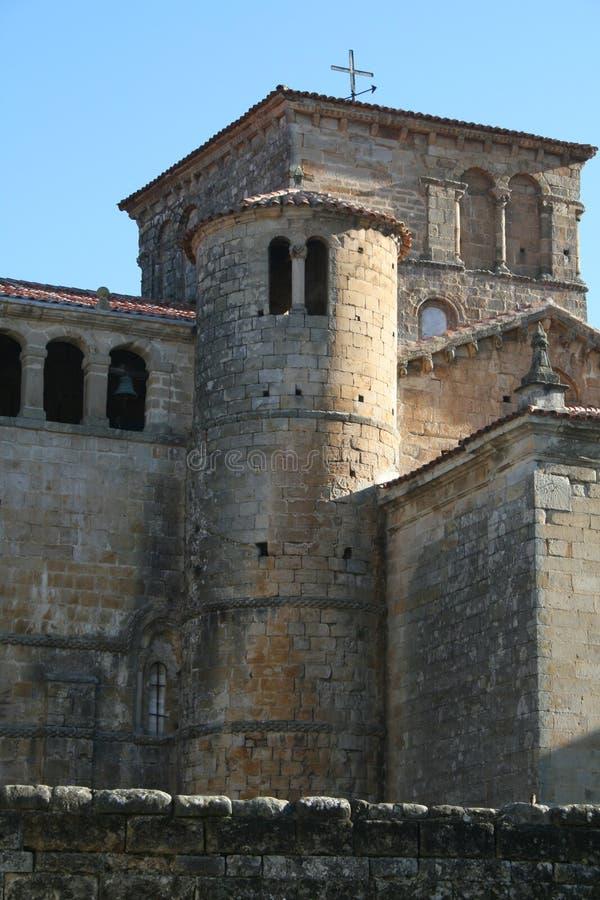 Kirche, Santillana Del Mar stockbilder
