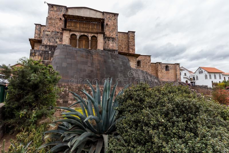 Kirche Santo Domingo, Coricancha, Cusco, Peru, Südamerika Bauen Sie auf Ruinen des Inka-Tempels der Sonne auf stockfotos