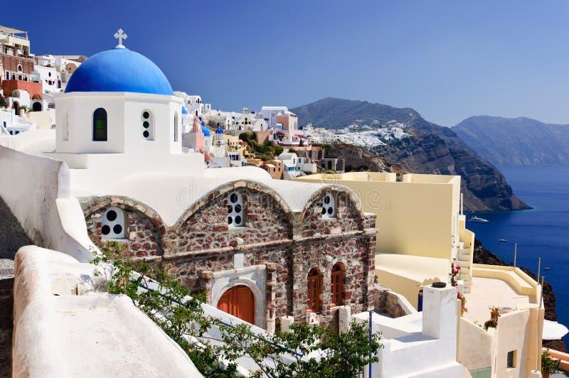 Kirche in Santorini lizenzfreie stockfotos