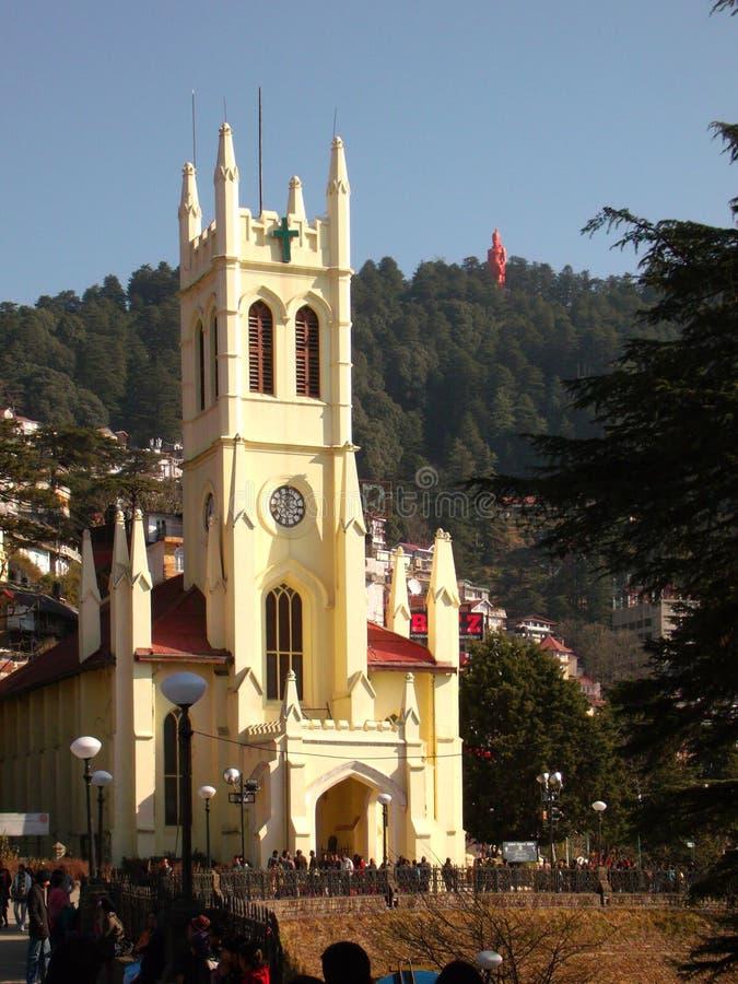 Kirche in Shimla lizenzfreie stockbilder