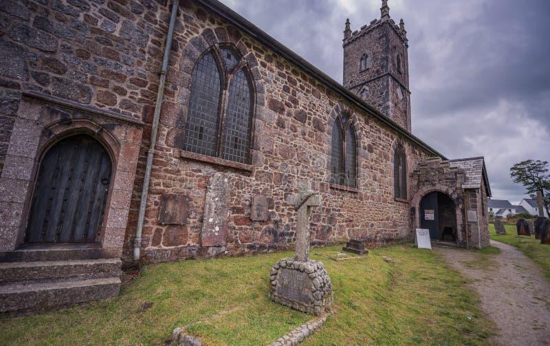 Kirche St. Eustachius - Tavistock, England, Großbritannien stockbilder