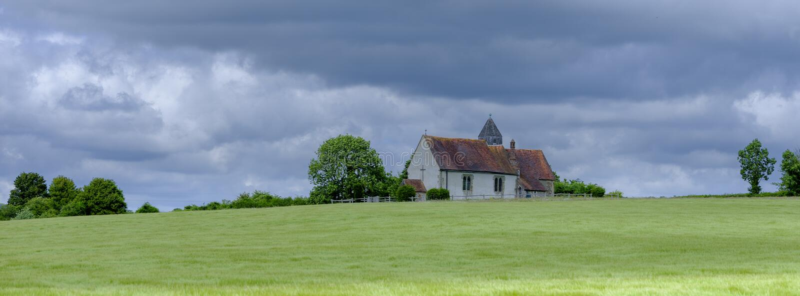 Kirche St. Hubert, Idsworth in den Südabstiegen Nationalpark, Hampshire, Großbritannien stockfotografie