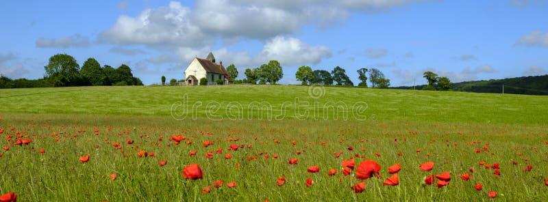 Kirche St. Hubert, Idsworth in den Südabstiegen Nationalpark, Hampshire, Großbritannien lizenzfreie stockfotografie