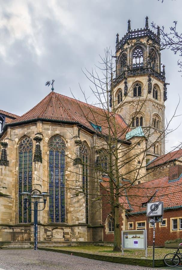 Kirche St. Ludgeri, Munster, Deutschland stockbilder