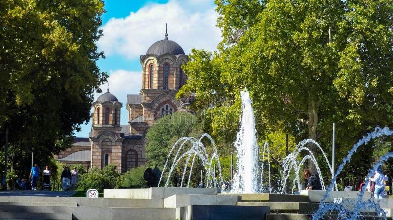 Kirche St Mark, Belgrad lizenzfreie stockfotos