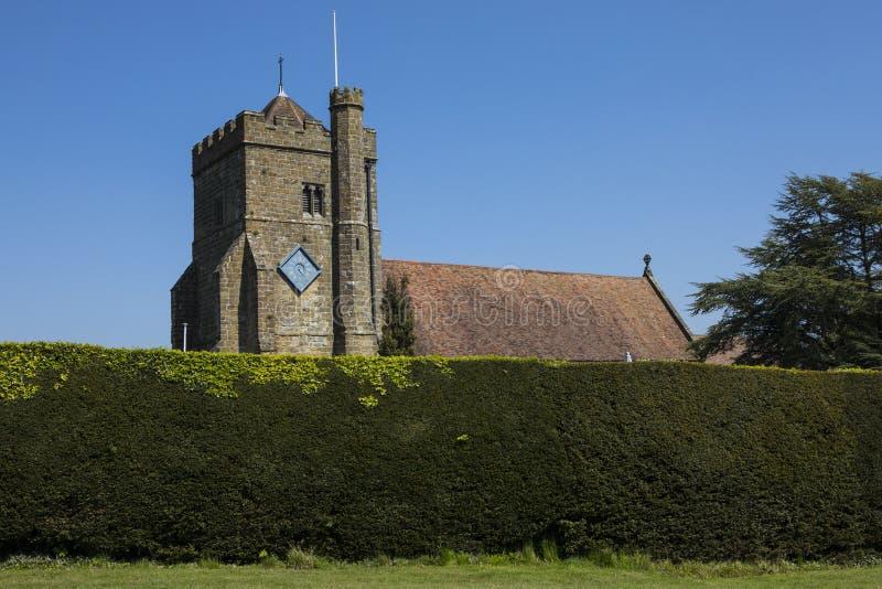 Kirche St. Marys im Kampf, Ost-Sussex lizenzfreie stockbilder
