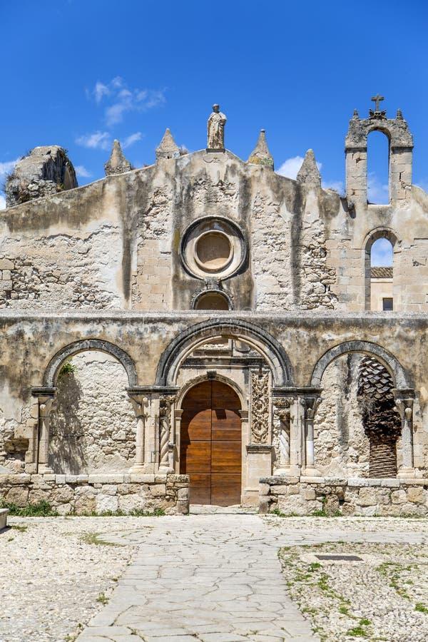 Kirche St. Marziano in Syrakus, Sizilien, Italien stockbilder