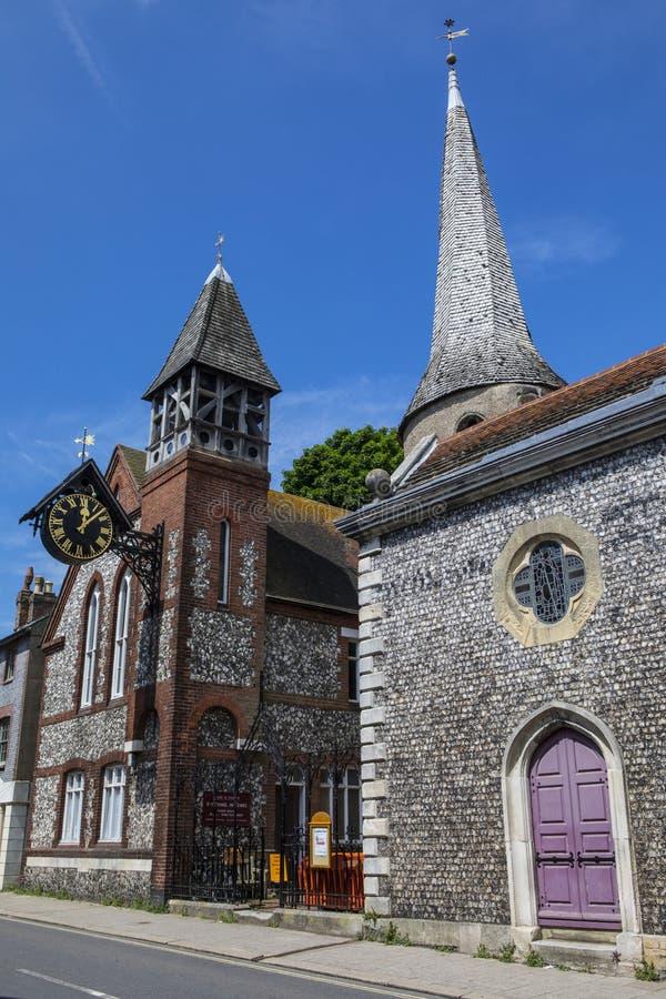 Kirche St. Michael-in-Lewes lizenzfreies stockfoto