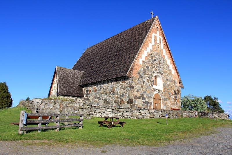 Kirche St. Olafs, Tyrvaa Sastamala, Finnland stockbild