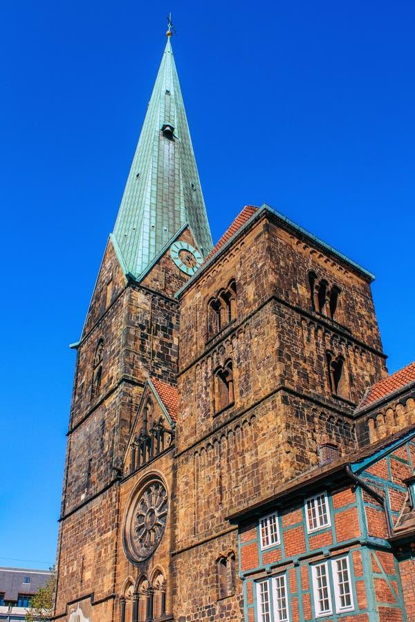 Kirche St.-Petri-Dom in Bremen, Deutschland lizenzfreie stockfotografie
