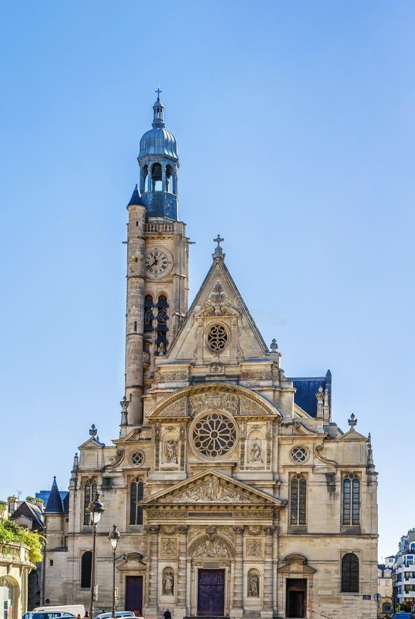 Kirche St.s Etienne du Mont, Paris stockbilder
