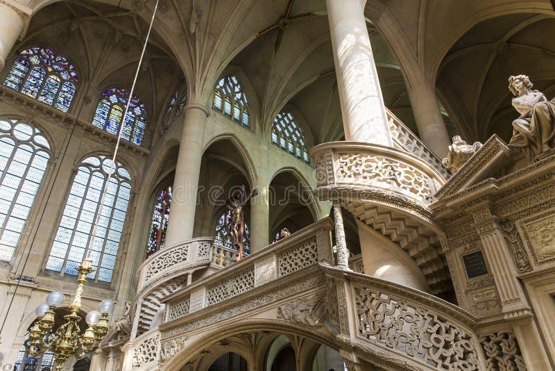 Kirche St.s Etienne du Mont, Paris, Frankreich lizenzfreie stockfotografie