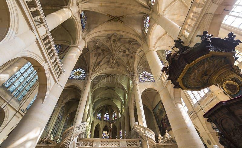 Kirche St.s Etienne du Mont, Paris, Frankreich lizenzfreies stockfoto