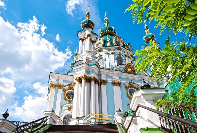 Kirche Str.-Andrews, Kiew stockbilder