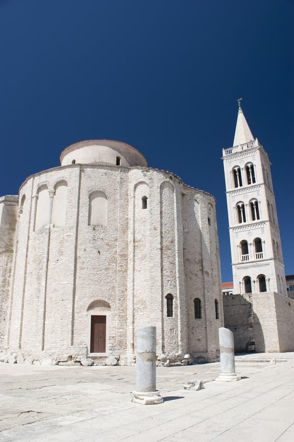 Kirche-Str. Donat und Kathedrale in Zadar stockfoto