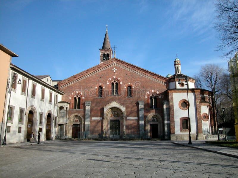 Kirche Str.-Eustorgio, Mailand stockfotografie