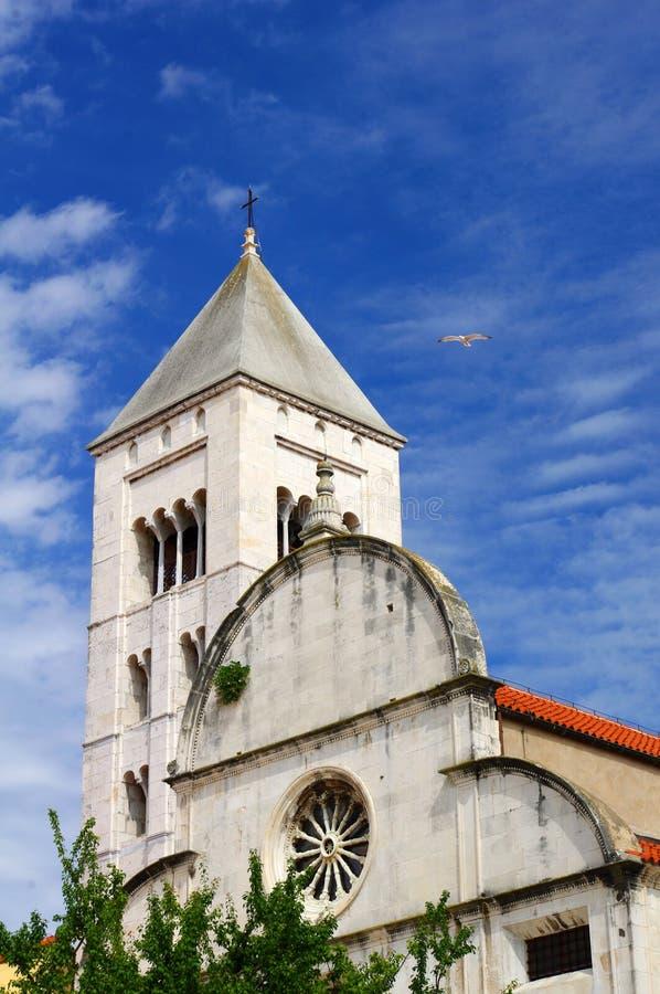 Kirche Str.-Mary in Zadar lizenzfreies stockbild