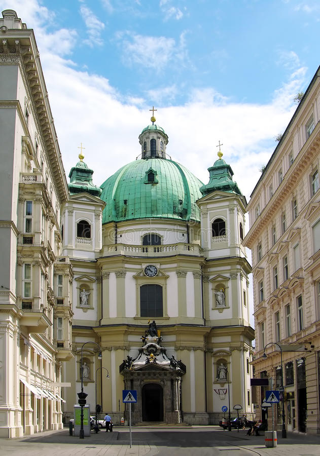 Kirche Str.-Peters, Wien lizenzfreie stockbilder