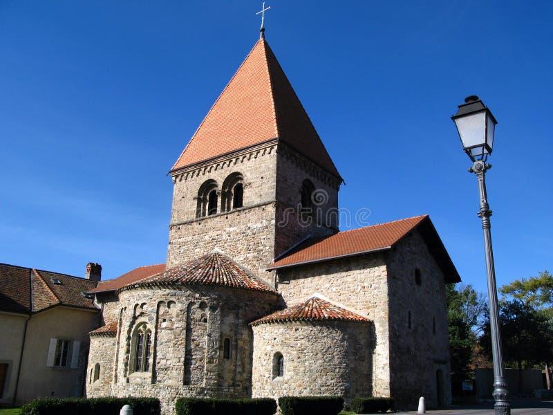 Kirche Str.-Sulpice, Lausanne, die Schweiz lizenzfreies stockbild