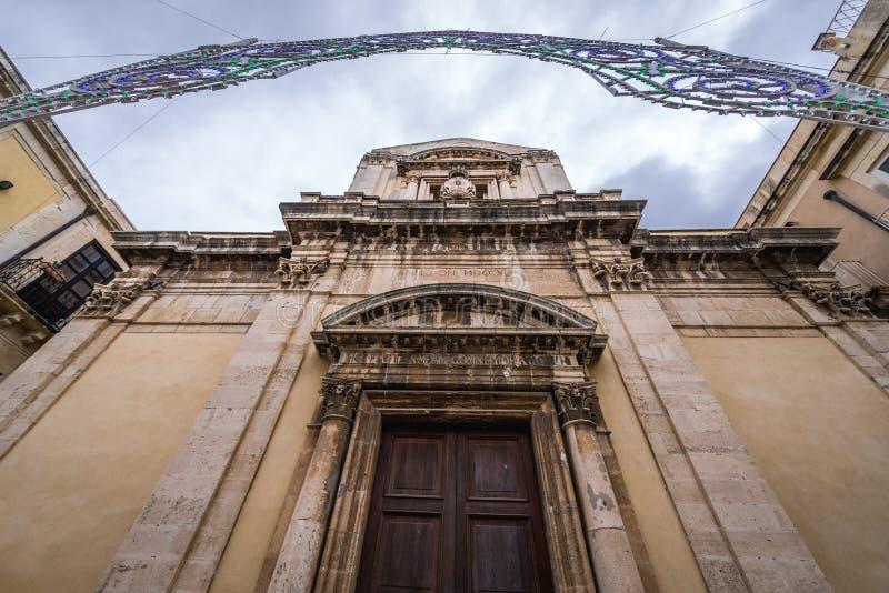 Kirche in Syrakus lizenzfreie stockbilder