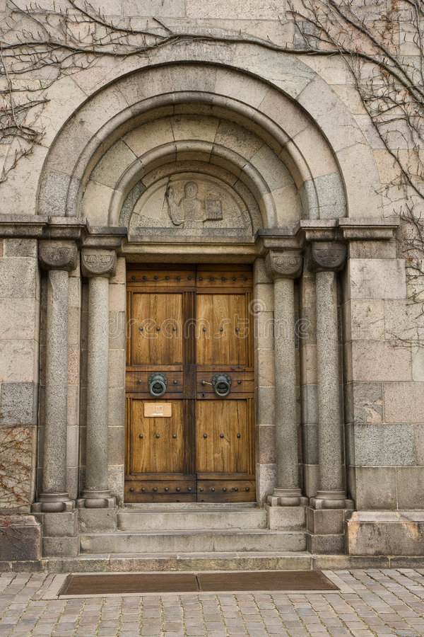 Kirche-Tür lizenzfreies stockbild