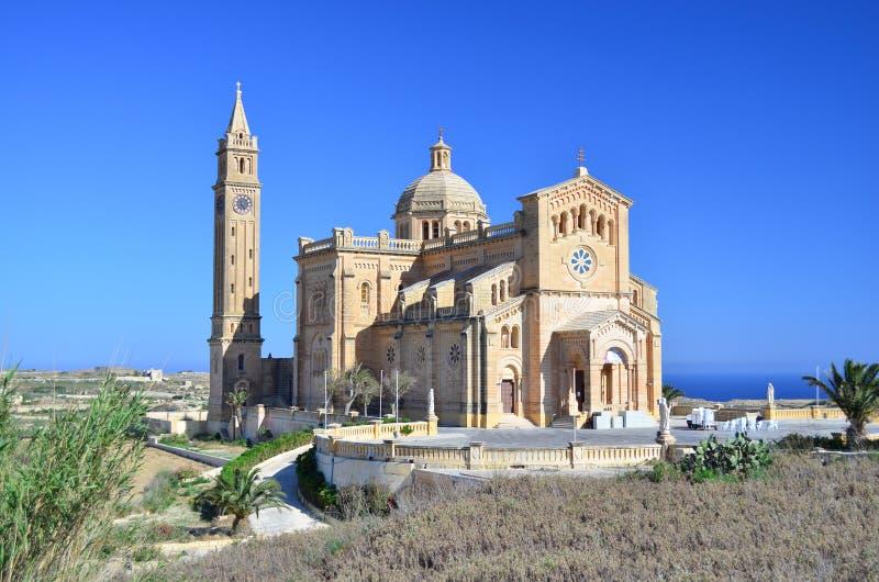 Kirche Ta Pinu in Gozo - Malta lizenzfreie stockbilder