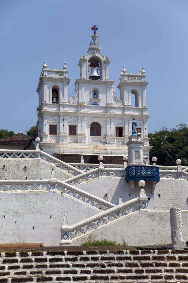 Kirche unserer Dame der Unbefleckten Empfängnis in Panaji, Goa, stockbilder