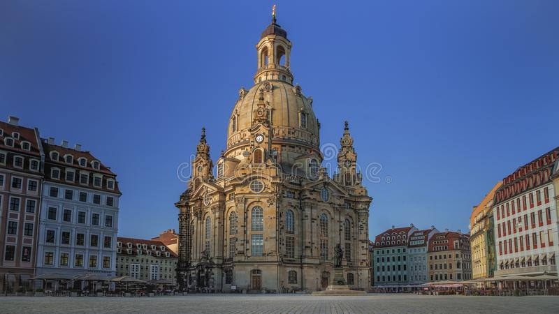 Kirche unserer Dame Dresden Germany ohne Leute lizenzfreies stockfoto