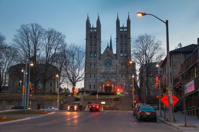 Kirche unserer Dame Immaculate, Guelph, Ontario Kanada lizenzfreie stockbilder