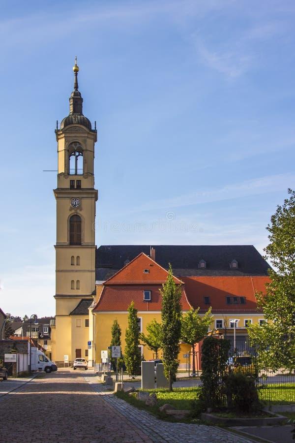 Kirche unserer Dame (Marienkirche) in Werdau, Deutschland lizenzfreie stockfotografie