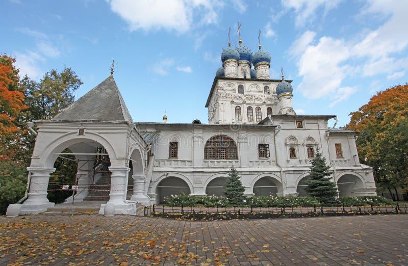 Kirche unserer Dame von Kazan Kolomenskoye, Moskau stockbild