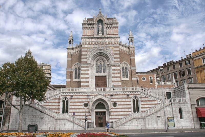 Kirche unserer Dame von Lourdes in Rijeka-Stadt in Kroatien stockbild