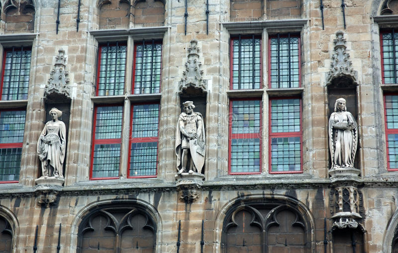 Kirche in Veere, die Niederlande stockfotografie