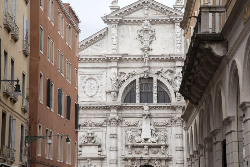 Kirche Venedig Sans Moise stockfoto